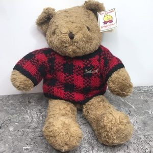 Vintage NEW Woolrich Teddy Bear Stuffed Animal